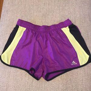 Adidas Size Medium Purple Running Shorts